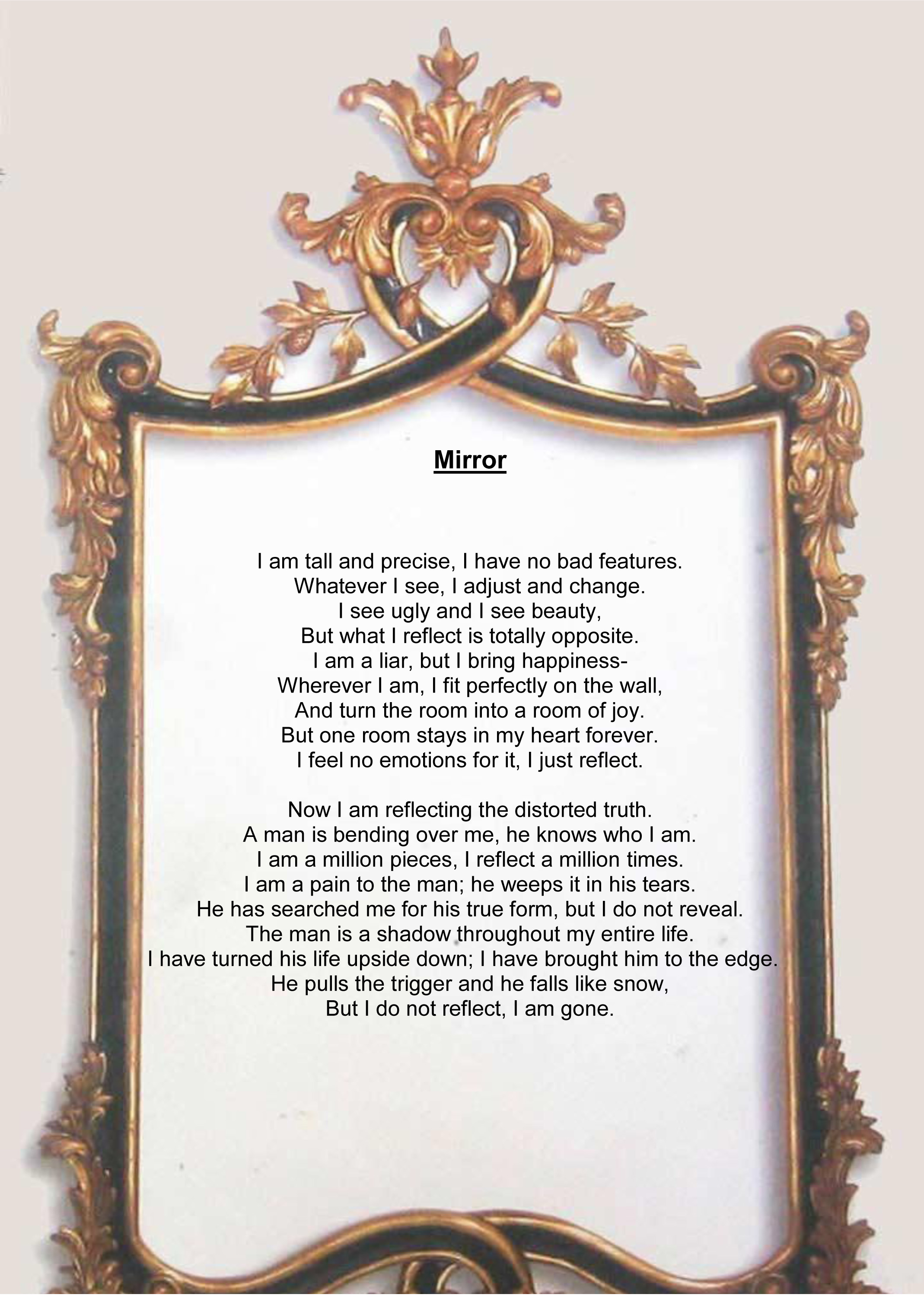 mirror by sylvia plath theme